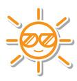 thin line sun icon vector image vector image