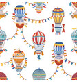 vintage childish hot air balloon wallpaper vector image