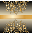 Vintage Royal classic ornament border background vector image vector image