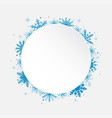 white circle snowflakes new year or christmas vector image vector image