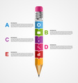 Abstract options infographics design template vector image