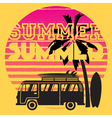 summer road trip vector image