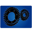 3d model of gears on a blue vector image vector image