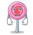 afraid cute lollipop character cartoon vector image vector image