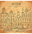 amsterdam traditional architecture of netherlands vector image vector image