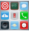 Application icons set vector image vector image