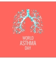 Asthma awareness poster vector image vector image