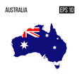 australia map border with flag eps10 vector image vector image