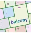 balcony computer keyboard key button vector image