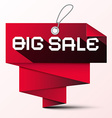 Big Sale Red Paper Label vector image vector image