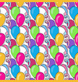 birthday seamless pattern with colorful balloons vector image vector image