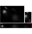 black corporate backgrounds with halftone pattern vector image vector image