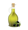 bottle of olive oil isolated white background vector image vector image