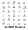 business training training session learning vector image vector image
