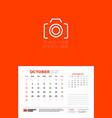 calendar for october 2021 week starts on sunday vector image vector image