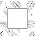 cassia fistula outline - golden shower flower vector image vector image