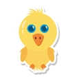 chicken little animal farm isolated icon vector image vector image