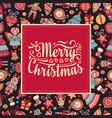 christmas card holiday ornament vector image