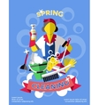 Cleaning Colored Poster vector image vector image