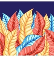 colorful background of leaves vector image