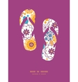 colorful oriental flowers flip flops vector image