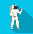cosmic space suit space technology single icon in vector image