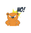 cute bear angry vector image vector image
