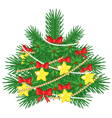 decorated fir vector image