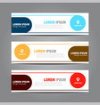 design horizontal template flyer banner vector image