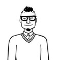 doodle sketch hipster vector image vector image