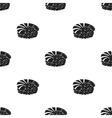 Ebi Nigiri icon in black style isolated on white vector image