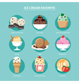 favorite of ice cream set flat design vector image vector image