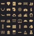 finance icons set simple style vector image vector image