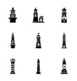 floating icons set simple style vector image vector image