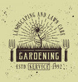 flower colored emblem for gardening service vector image