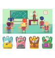 geometry educational lesson in school for pupils vector image vector image