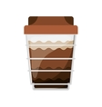 glass disposable for cappucino with lid vector image vector image
