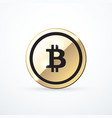 gold bitcoin icon isolated vector image vector image