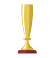 golden cup award or champion winner gold goblet vector image