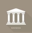 greek temple icon flat design vector image
