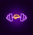 gym neon sign vector image