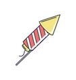 happy birthday rocket fireworks celebration party vector image vector image