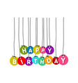 happy birthday word vector image