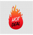hot deals label isolated transparent background vector image vector image