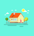 house flat design urban landscape abstract vector image vector image