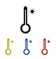 icon thermometer symbolizing heat vector image vector image