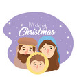 joseph and mary with jesus to happy epiphany vector image vector image