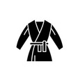 kimono black icon sign on isolated vector image