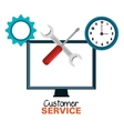 laptop customer service call center design vector image vector image