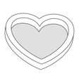 love heart shape romantic icon vector image vector image